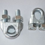 galvanised wire rope clip
